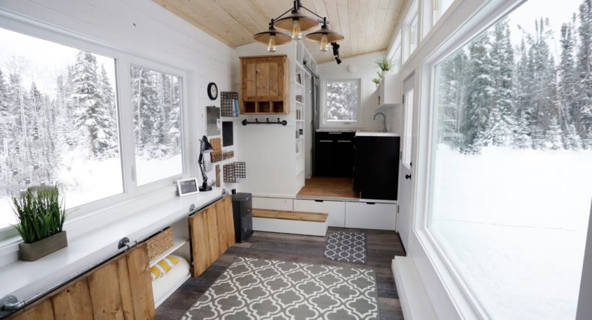 Open Concept Modern Tiny House With Elevator Bed Unique Vancouver